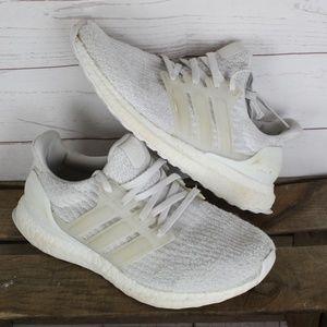Adidas UltraBoost Tripple White Sz 6y Womens 7.5